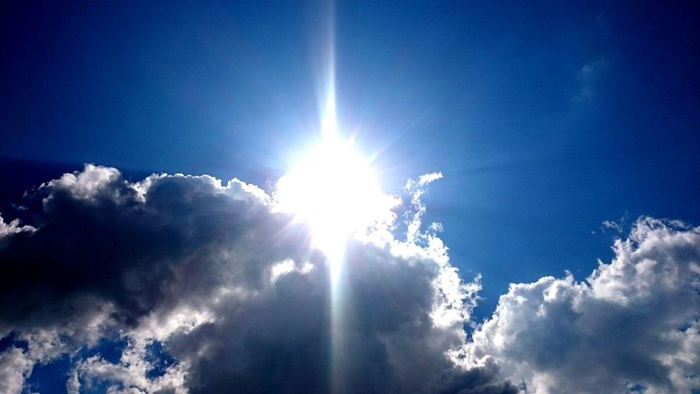 Sun and clouds. Sky.