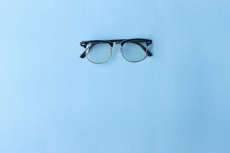 Eyeglasses on