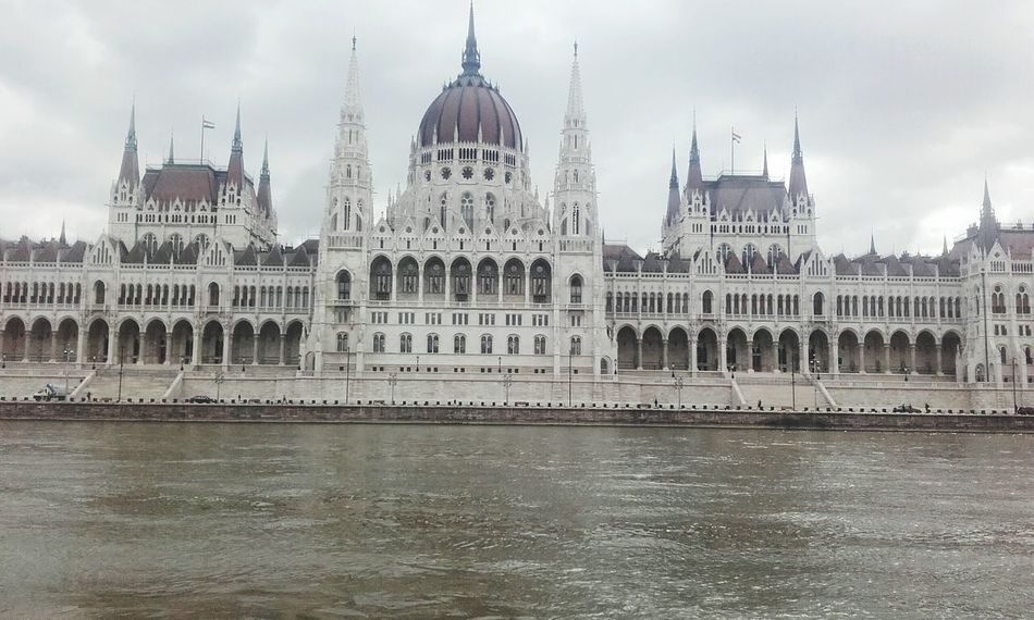 Sky Day City No People Water River Duna Parlament Parlament Of Hungary Hungary Budapest, Hungary Budapest Outdoors