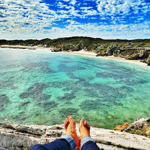 I was Visiting a Small Beautiful island Close to Perth called rottnestisland . Such a amazing place! 💜💓🌊🏄😍✌👉 travelingaustralia travelingtheworld traveling trip happy fun friends feets rock cliff sea blue sky lifeisride lifeisridenow instagood instapic picoftheday warrenjc