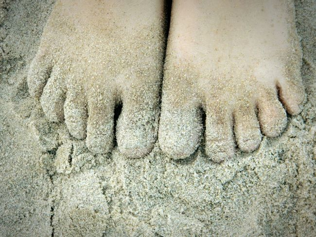 FootPrint Beach Day Beachtime♥♥ Artistic Check This Out Feeling Inspired Soil