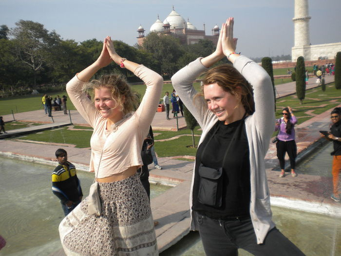 Namaste India Enjoyment Foreign Land Fun India Namaste India The Tourist Women Young Women