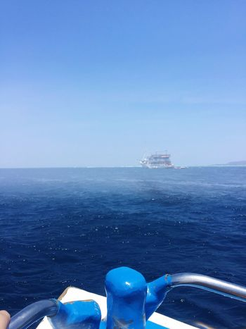 Sea Water Horizon Over Water Blue Nature Nautical Vessel Transportation Day Clear Sky Outdoors Scenics Sky Beauty In Nature Close-up