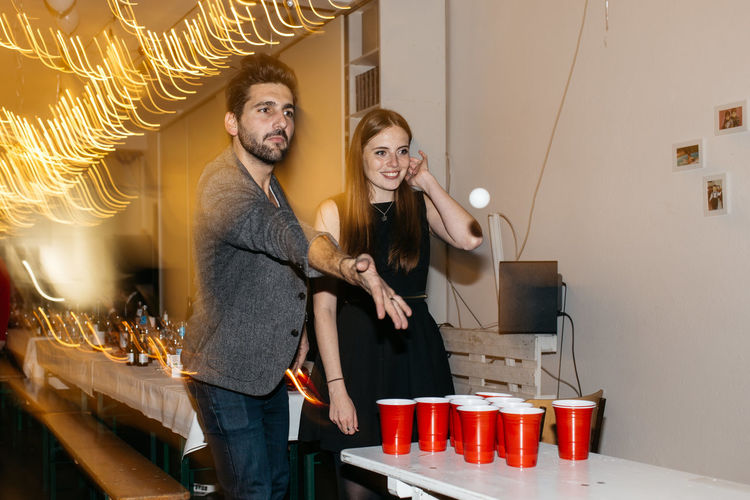 Beer Pong EyeEm Christmas Party 2017 Day Eyeem Studio Kreuzberg Happiness Indoors  Leisure Activity Lifestyles Real People Smiling Standing Team Awesome Togetherness Two People Young Adult Young Men Young Women