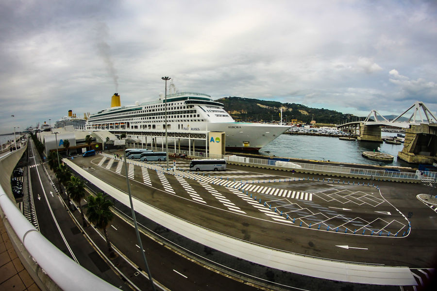 Architecture BARCELONA PORT Building Exterior Built Structure Cloud - Sky Cruise Liner Cruise Ship Day Fisheye Industrial Modern Nautical Vessel Outdoors Sky Street Photography Transportation Water