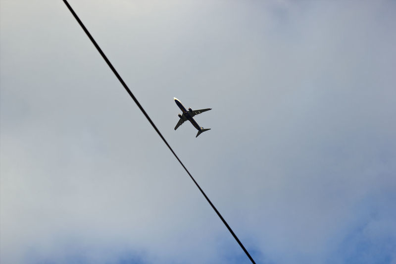 Following the flight plan Flying Sky Airplane Full Length Flying Sky Air Vehicle Jet Engine 17.62°