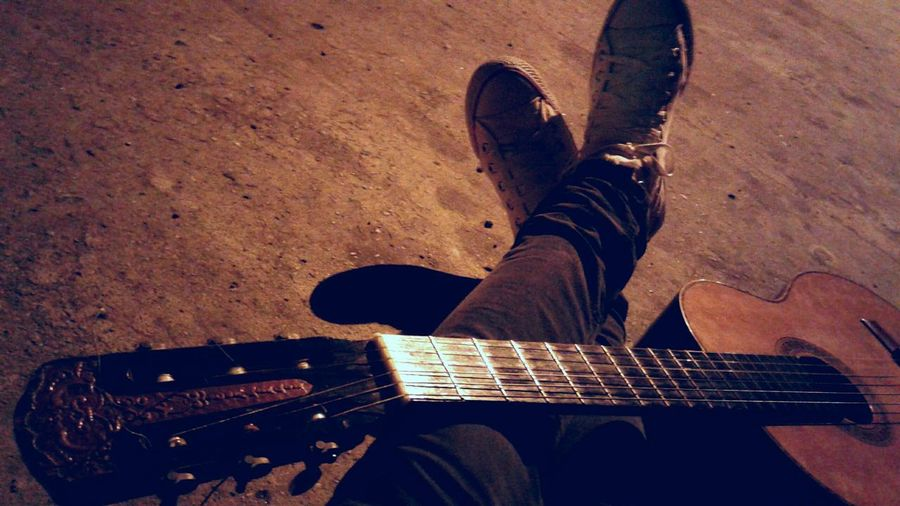 Guitar Music Instrument Legs Man Man Sepia Photography Art Is Everywhere EyeEmNewHere TCPM Out Of The Box