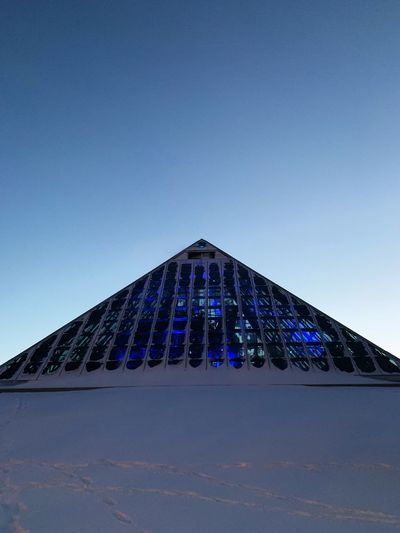 Blue Built Structure Sky Architecture No People Clear Sky Building Exterior Pyramid Travel Destinations