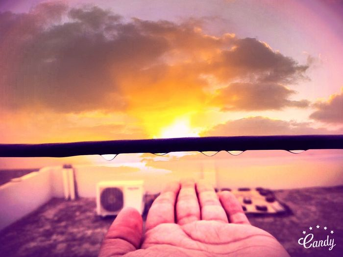 nature in hand Sunset Nature Beauty In Nature Water First Eyeem Photo