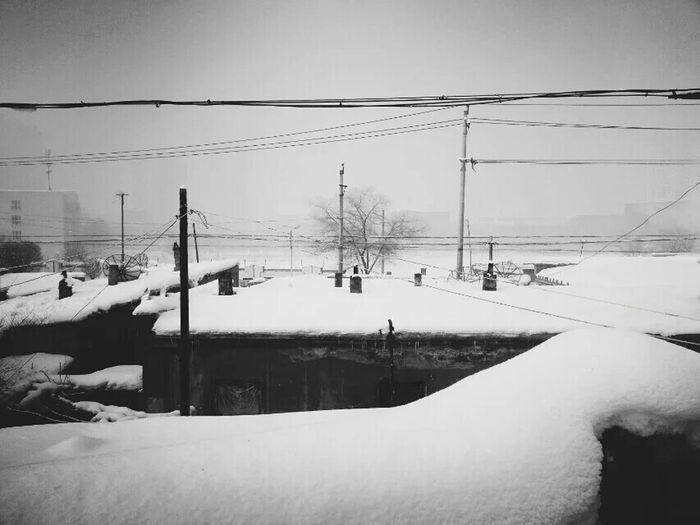 Snow ❄ 乌鲁木齐 Eye For Photography Have A Nice Day♥ EyeEm The Best Shots Happy Day Enjoying Life Beautiful ♥ Taking Photos Black & White