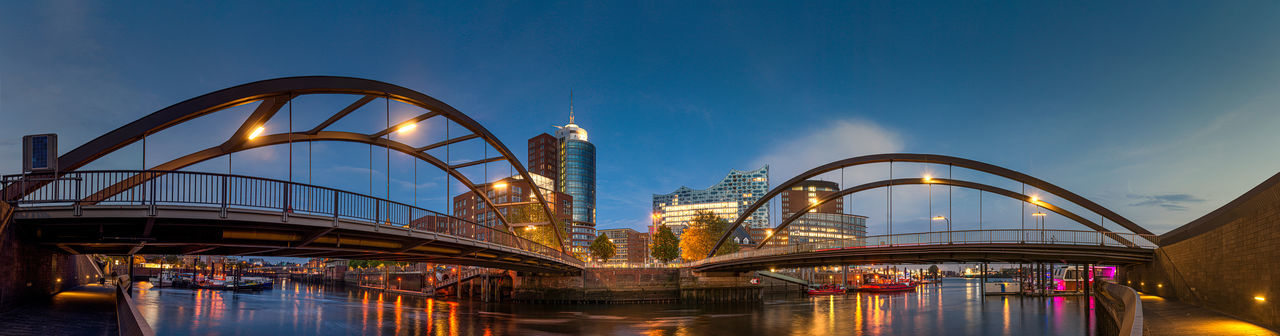 Ferris wheel in city at dusk