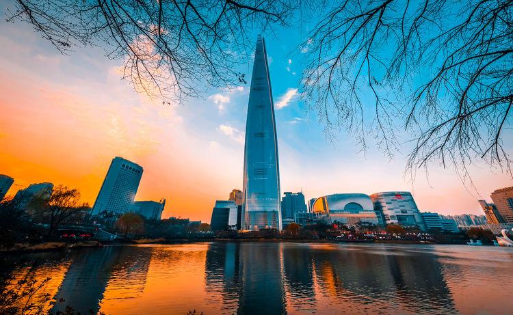 Urban Skyline Lotteworld Tower LOTTEWORLD Southkorea Seoul, Korea Seoul
