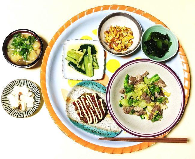 夜ごはん🍴 Food Indoors  Plate High Angle View Ready-to-eat