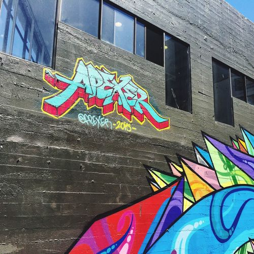 urban art by Apexer San Francisco Apexer Graffiti Streetphotography Streetart Tag LocalArtists Artistawareness Architecture