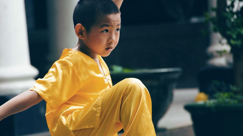 Casual Clothing Close-up Cute Day Focus On Foreground Kid Kungfu  Learning Leisure Activity Lifestyles Martial Arts Outdoors Portrait Portraits Portraiture Practice Selective Focus Sport The Portraitist - 2016 EyeEm Awards Wushu