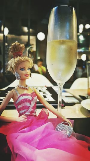 It's a kinda day that i need a drink ...according to what Barbie told me.. Barbie Girl Drunk In Love Pretty In Pink Taking Photos Getting Inspired Cute Prosecco
