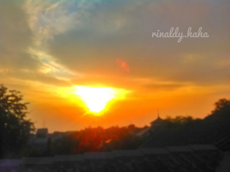 Sunset Tambun-Bekasi,Indonesia. Orange Color Sunset Sky Cloud - Sky No People Outdoors Nature Beauty In Nature Close-up Bekasi, Indonesia