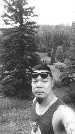 Nature On A Hike Nice Views Black And White Photography Selfie Pine Tree Peace ✌ Enjoying The Sights Summer2015 Summ