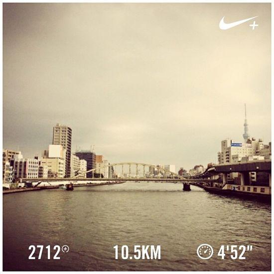 Running Nike Run Skytree スカイツリー GYAKUSOU Nikeplus 隅田川 ランニング Sumida ナイキ 両国橋 隅田川テラス ラン 親水テラス