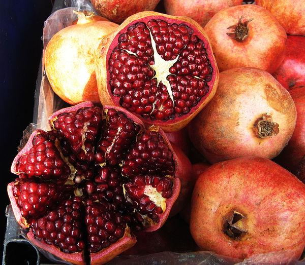 Basar Alanya Basket Close-up Food Freshness Healthy Eating Heap No People Organic Pomgranate Red Ripe