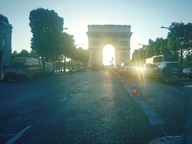 Triumphal Arch Architecture Arch City Travel Destinations Built Structure Outdoors Day Sky Tree No People France🇫🇷 Paris ❤ Paris France First Eyeem Photo Triumph Arch Champs-Élysées  Letoile First Eyeem Photo