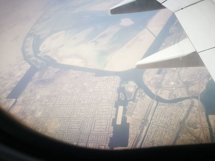 Air plane window view. Perfectly scaled and beautiful. Technology Airplane Coin-operated Binoculars Science Aerospace Industry City Cityscape Scientific Experiment Window Business Finance And Industry