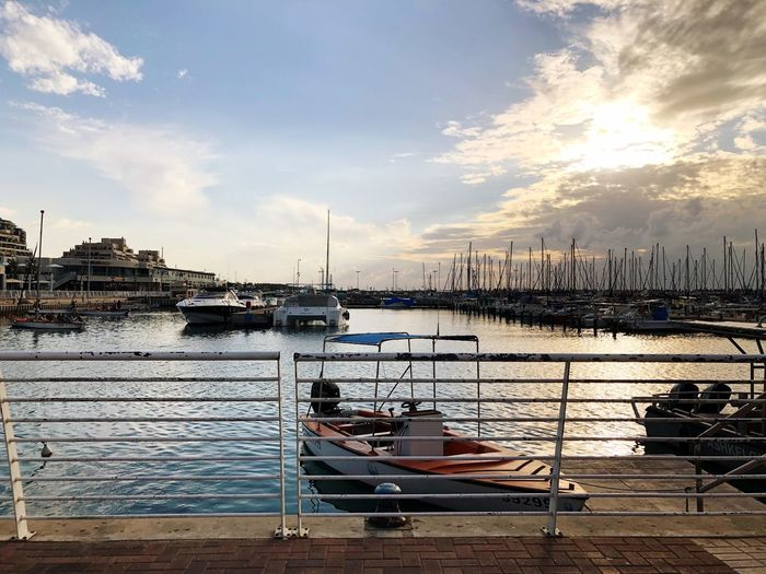 Traveling in Ashkelon Israel Nautical Vessel Mode Of Transport Transportation Sky Cloud - Sky Water Moored Built Structure Sea Architecture No People Outdoors Building Exterior Sailboat Nature Yacht Harbor Mast Travel Destinations City Marina Port Be. Ready.