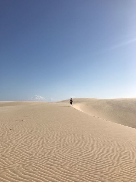 Sand Dune Desert Sand Arid Climate Extreme Terrain Nature Outdoors Scenics One Person Tranquility FootPrint Been There. Done That. Lost In The Landscape