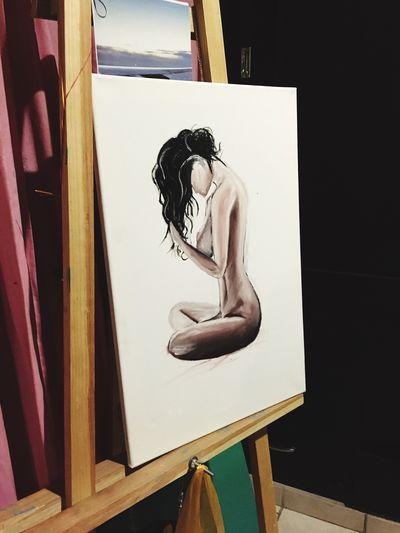 Painting Art Bodywoman óleo Vanessaescobar Love