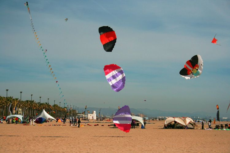 Wind Festival 2017 in Valencia, Spain Beach Beach Sports Enjoyment Flying Kite Kite Festival Kite Festival Valencia Kites Kites Flying Kites In The Sky Leisure Activity Lifestyles Mid-air Sand Sky Vacations Valencia, Spain Weekend Activities