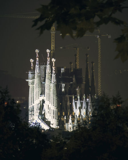 HUAWEI Photo Award: After Dark Architecture Belief Building Building Exterior Built Structure City Illuminated Nature Night No People Outdoors Place Of Worship Plant Religion Sagrada Sagrada Familia Sky Spirituality Tree