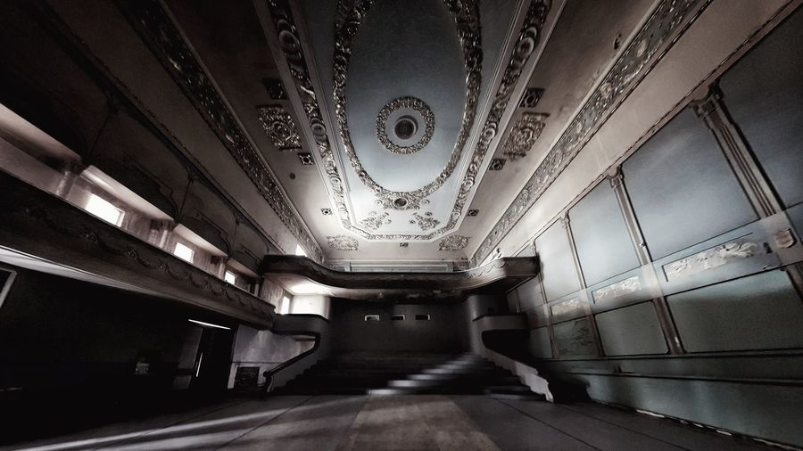 Abandoned Cinema Apollo In Tbilisi Interior Abandoned Buildings Staircase Abandoned Places Architectural Column Abandoned Indoors  Architecture Ceiling Built Structure No People Modern Futuristic Day