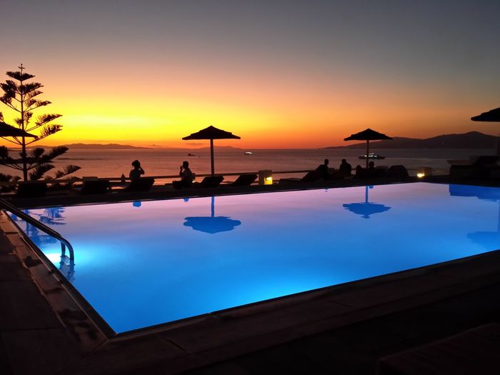 1st sunset of the vacation...no filter! Swimming Pool Tourist Resort Sunset Sea Travel Destinations Hotel Tranquility Luxury Mykonos Mykonos,Greece Mykonos Greece Islandlife Island View  GREECE ♥♥ Greece Landscapes Scenics Nset Nofilternoedit No Filter Sunset_collection