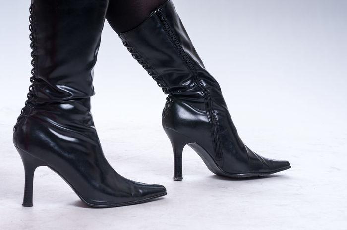 Black festish boots on black floor Boots Dress Elégance Fashion Feets Foot Leather Woman Black Close-up Clothing Erotic_photo Erotık Fetish Glamour High Heels Human Foot Indoors  Luxury Pair Shoe Shoes Style
