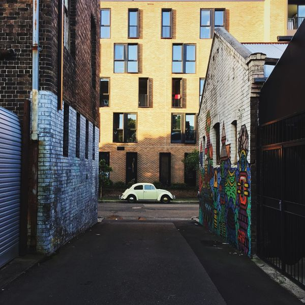 Secret street alley | IG: @sayinghello Architecture Beetle Building Exterior Built Structure Car Outdoors Residential Building Resist Street Photography Streetphotography The Secret Spaces Transportation Vintage Vintage Cars Volkswagen The Street Photographer - 2017 EyeEm Awards