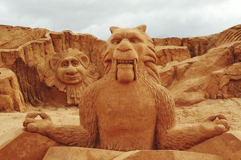 Ice Age Art No People Sand Sculpture Park Sand Sculpture Imagination Sand Sculptures Sculpture