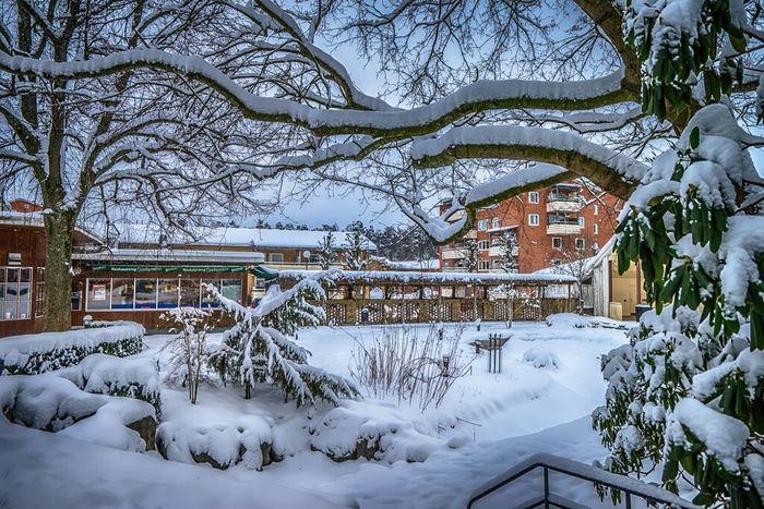 The citypark in Katrineholm Citypark Katrineholm City Tornephoto Sweden