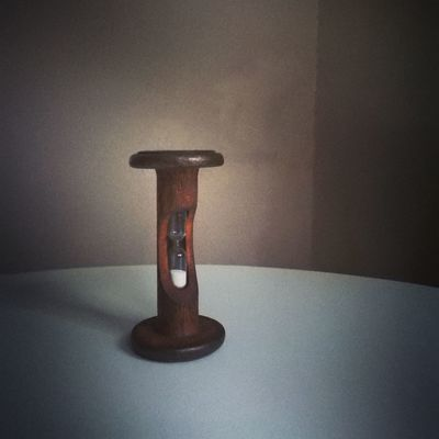 Single Object Old-fashioned Egg Timer Traditional Still Life Grain Natural Light