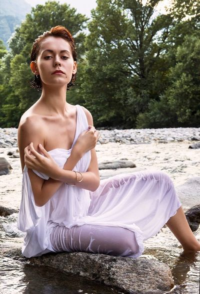 Olly Sitting Young Adult Women Outdoors Full Length Serene People Portrait Fashion Beauty Summer Adult Zen-like People One Person Nature Lotus Position One Young Woman Only Tree Adults Only Day