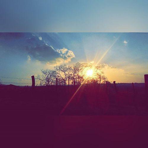 Porquê gosto de caminhar no sítio??? Para me alegrar com as paisagens que Deus pinta para mim... DeUnsDiasArrás . Pordosol . Fantastico . BelezasDeDeus . Natureza . Sol . Céu . Lindo  . LouvorADeus . Criação . Calmaria . Pax