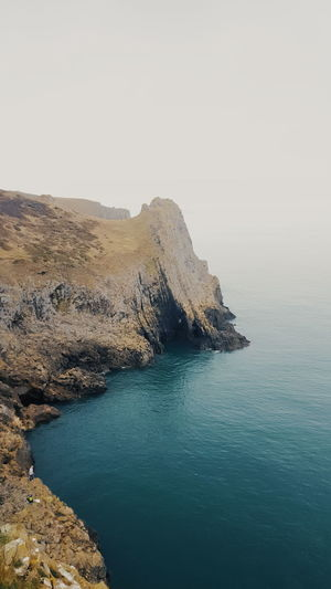 Beauty In Nature Clear Sky Cliff Day Landscape Nature No People Outdoors Rock - Object Rock Formation Scenics Sea Sky Tranquil Scene Tranquility Water Waterfront
