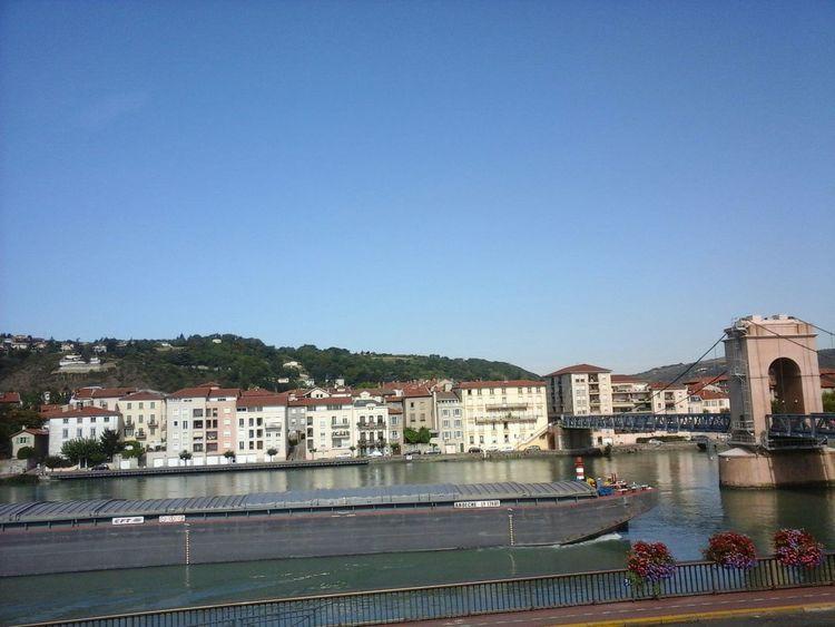 Rhône Boat Water Reflections