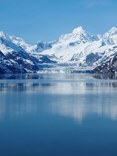 Glacier Bay Nature No People Alaska Glacier National Park glaciers Glacier reflection Blue Blue Sky White Scenic View Scenic Landscapes Ice