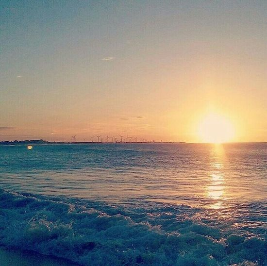Sunset Sun Summer Beach Beautiful Water Sky Sky And Clouds Sunlight Beauty In Nature Sea Scenics Tranquil Scene Tranquility Nature Horizon Over Water Idyllic Outdoors Travel Destinations No People Sand Tourism Landscape First Eyeem Photo