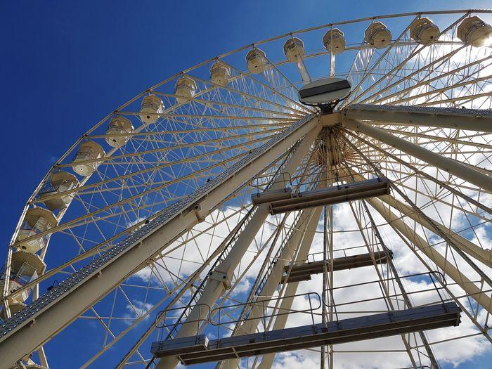 carousel City Clear Sky Ferris Wheel Blue Arts Culture And Entertainment Amusement Park Ride Amusement Park Sky Architecture Rollercoaster Ride Carousel