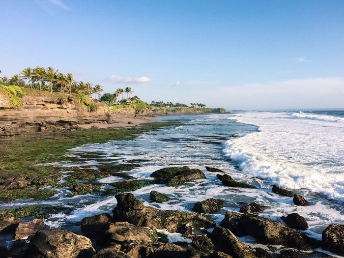 Tanah Lot Temple Seeing The Sights Traveling Ocean Waves Cliff Golden Hour Landscape Seascape Travel Wanderlust