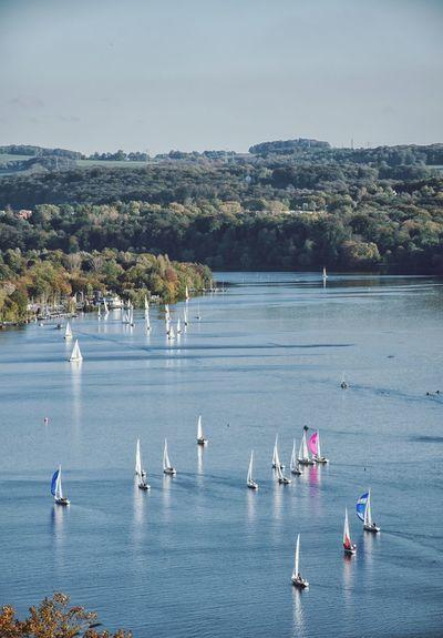 EyeEm Selects Baldeneysee Water Lake Nature Beauty In Nature Essen Segelboot Sailboat First Eyeem Photo