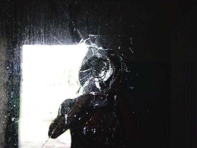 Mirror One Person Men Adult Broken Mirror Scary