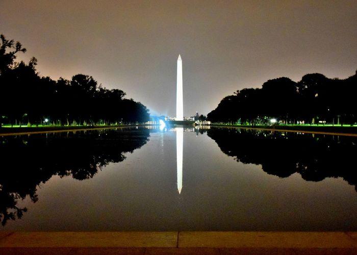 Monuments Nature Night No People Outdoors Reflection Sky Symmetry Water