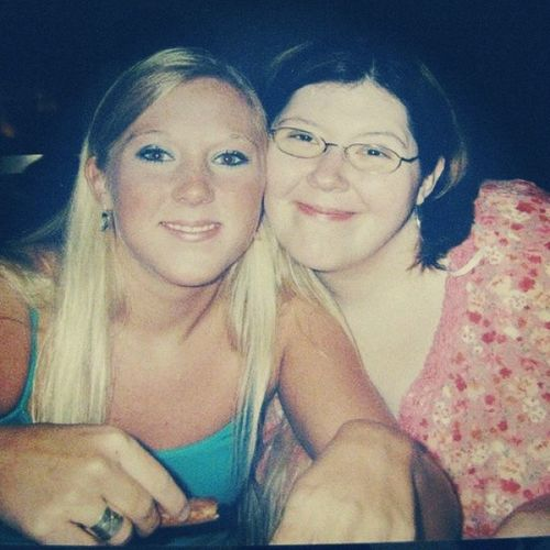 A little late, but why not? TBT  me & Kristen, 2004 - Yep, I looked like THAT a decade ago. Mysisterbear Pizzaburning loveher chuckecheese